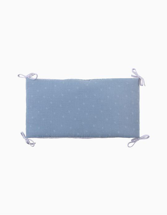 Resguardo De Cama Musselina Stars Blue
