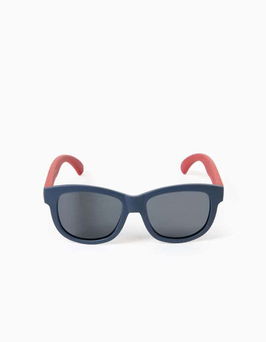 Flexible Sunglasses for Boys, Blue/Red