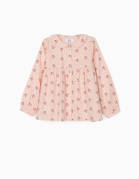 Camisa Floral para Niña, Rosa