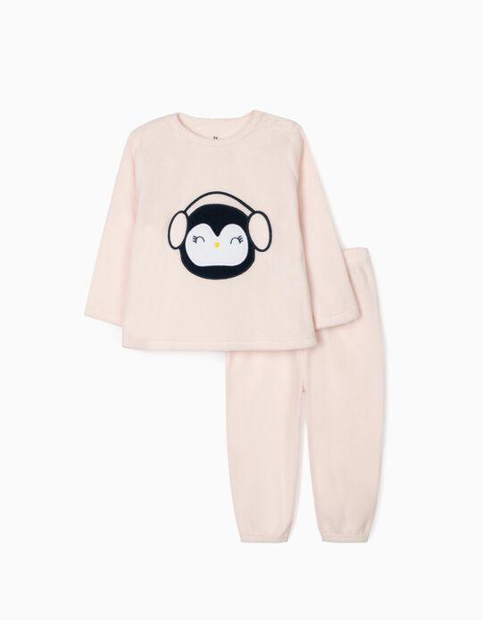 Polar Fleece Pyjamas for Baby Girls, Pink