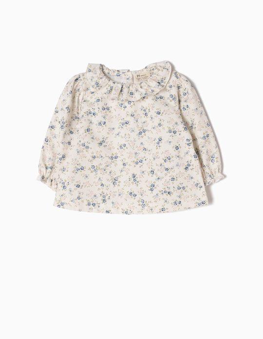 Blusa con Volantes Flores
