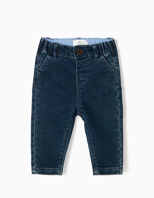 Pantalón Vaquero para Recién Nacido 'Comfort Denim', Azul
