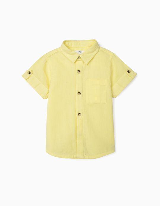 Short Sleeve Shirt for Baby Boys, Yellow