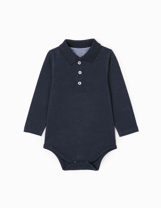 Body-Polo for Newborn baby boy, Dark Blue