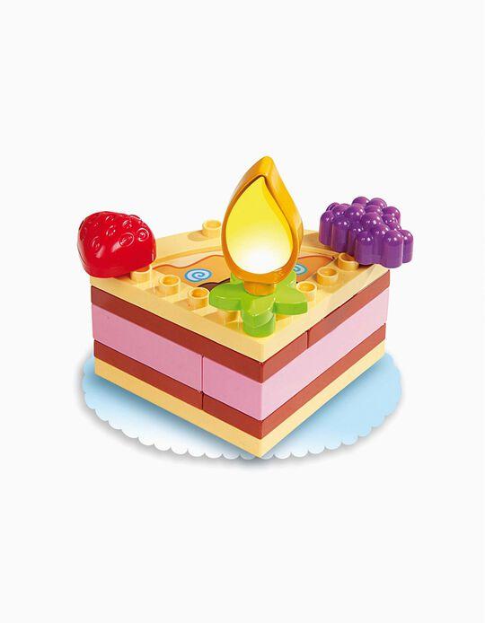 Blocos Encaixe - Bolo Aniversário & Cupcake 18m+ Único 14 pçs