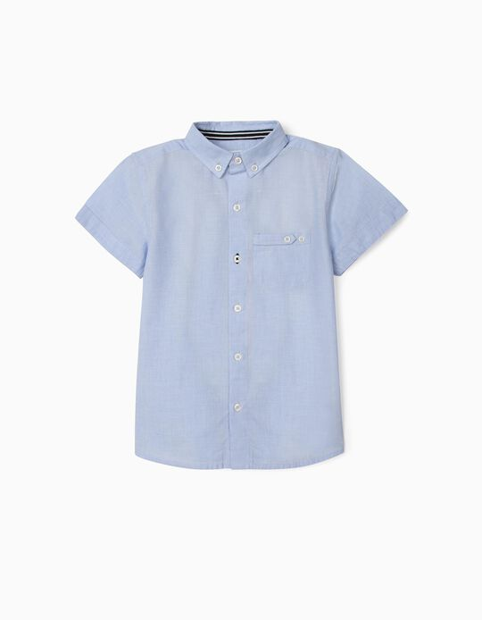 Chemise manches courtes garçon, bleu clair