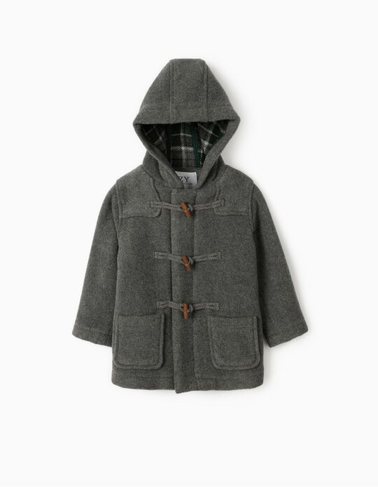 Duffle Coat for Baby Boys, 'B&S', Grey