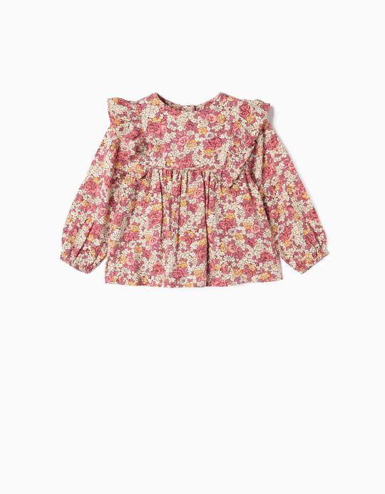 Blusa para Bebé Niña 'Flores', Rosa