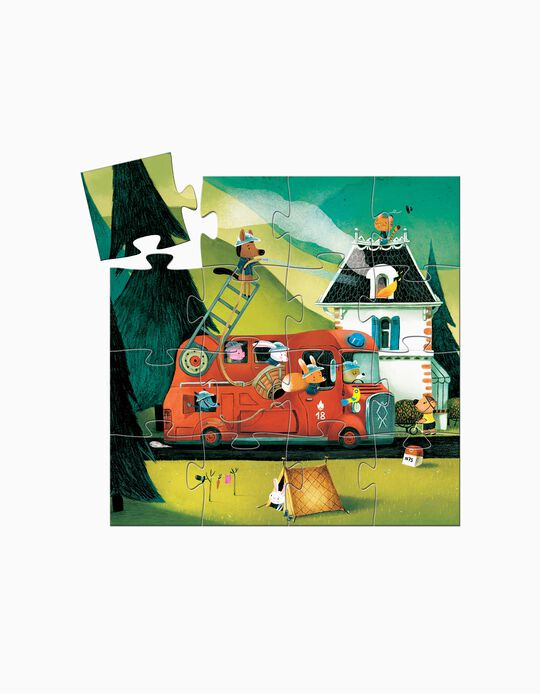 Puzzle Bombeiros 16 Pcs Djeco