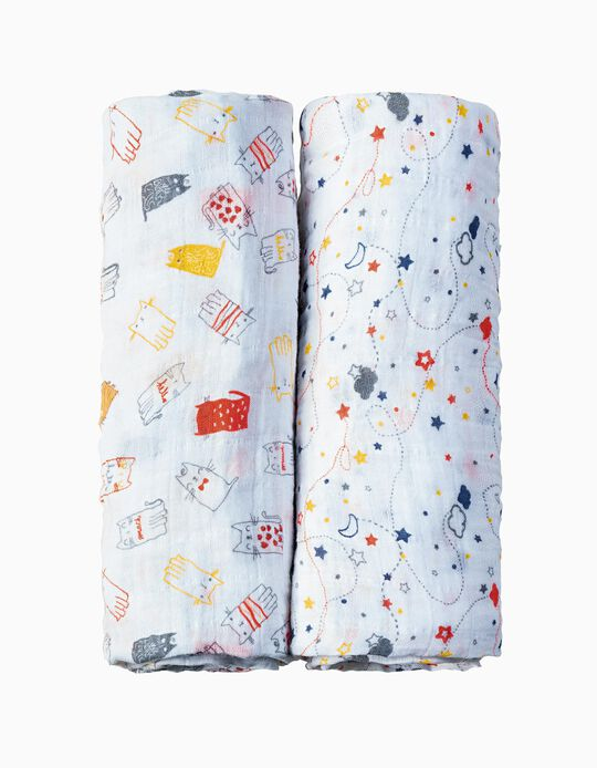 Swaddle 120x120cm by Picci, 2 Pieces