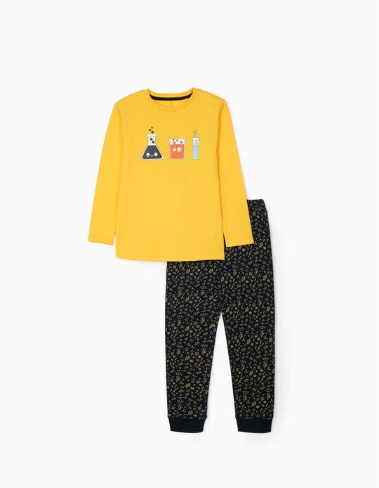 Pyjamas for Boys 'Scientist', Yellow/Dark Blue