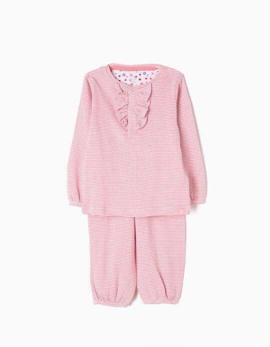 Pijama Manga Larga y Pantalón a Rayas