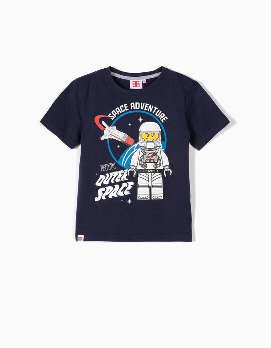 T-shirt para Menino 'Lego Space', Azul Escuro