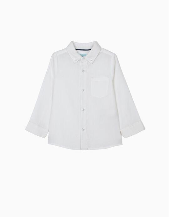 Camisa para Bebé Menino 'B&S', Branco