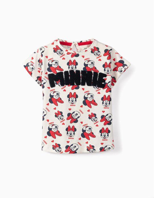 T-shirt para Bebé Menina 'Minnie', Branco