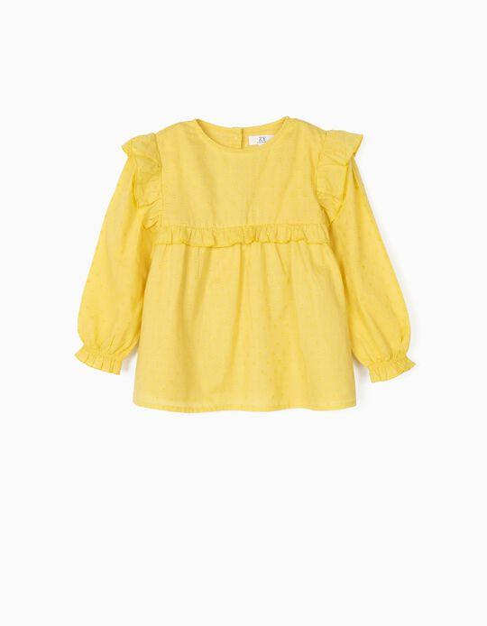 Blusa para Niña 'Lunares', Amarilla