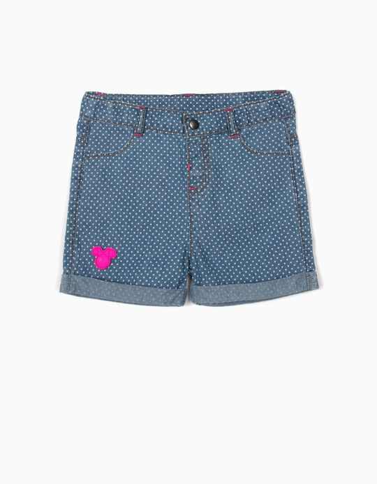 Denim Shorts for Baby Girls, 'Minnie Mouse', Blue