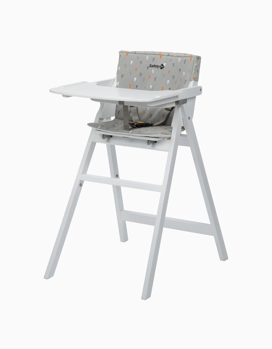 High Chair Nordik Safety 1St White Wood/ Warm Grey