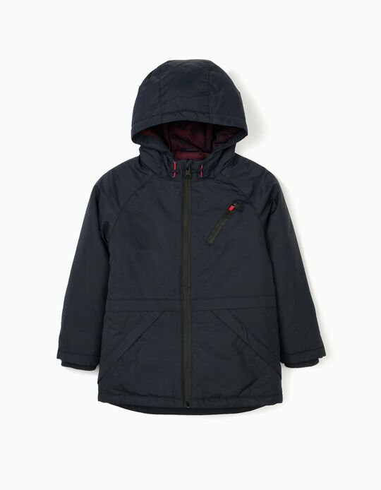 Hooded Parka for Boys, Dark Blue
