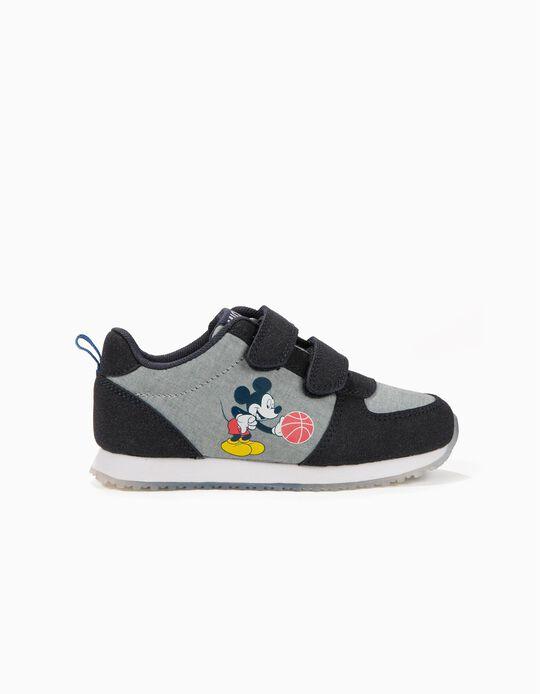 Sapatilhas para Menino 'Mickey Basketball' com Velcro, Azul