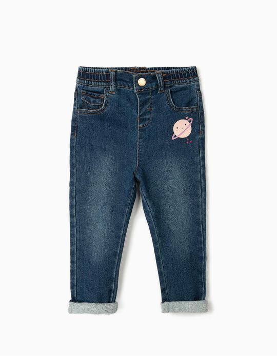 Jean bébé fille 'Confort Denim', bleu