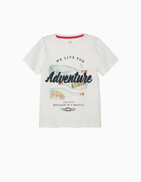 Camiseta para Niño 'Adventure', Blanca