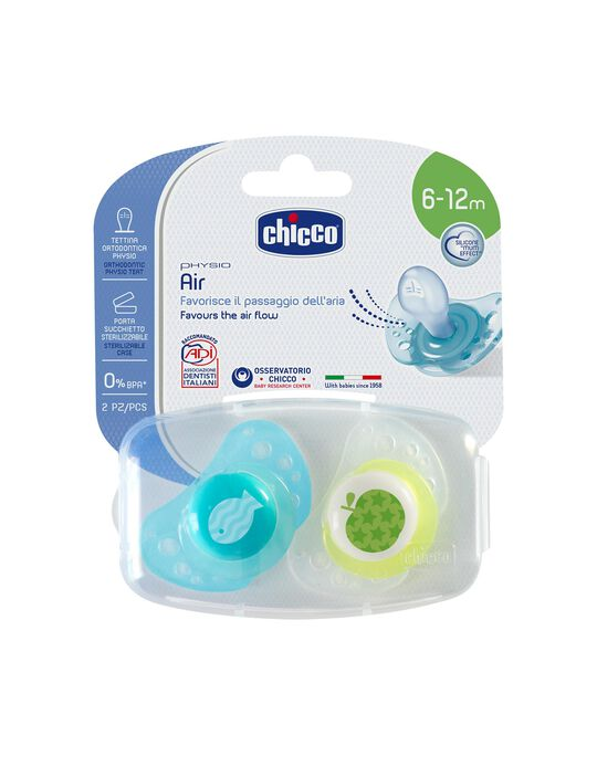 Chupeta Physio Air Silicone 6-12M Chicco 2Un.