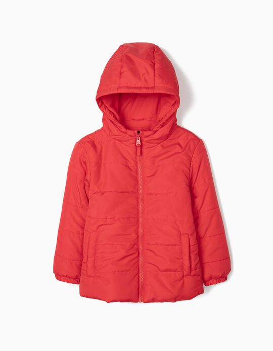 Padded Jacket for Boys, Red