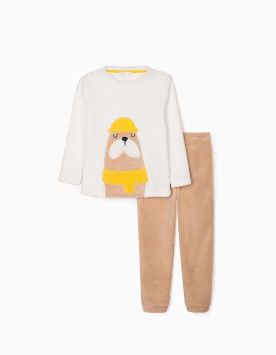 Pijama para Niño 'Beaver', Blanco/Camel