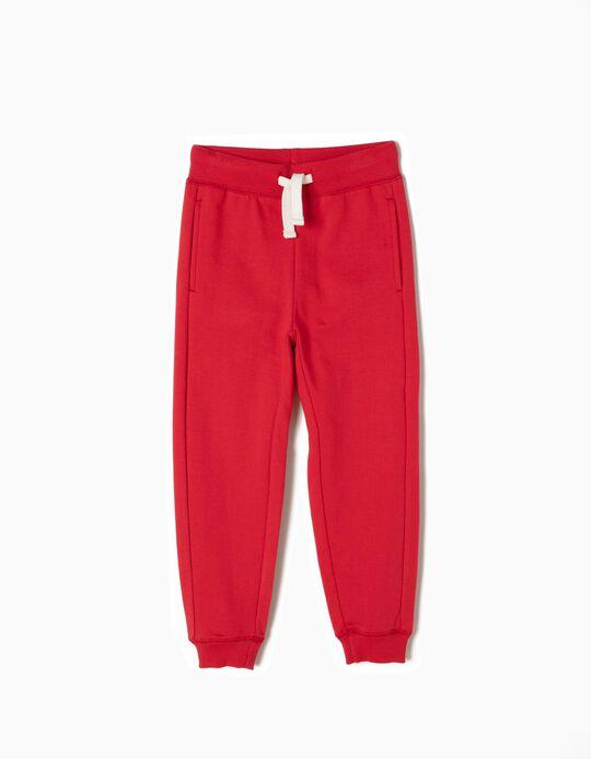 Pantalón de Chándal Básico Rojo