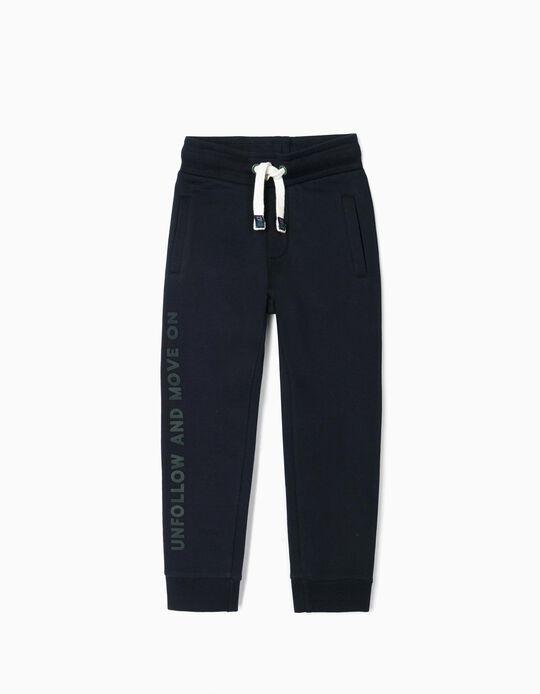 Pantalón de Chándal para Niño 'Unfollow', Azul Oscuro