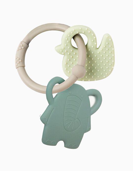 Anel De Dentição Silicone Elephant/Duck Nattou