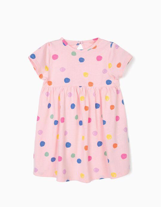 Vestido para Bebé Menina 'Dots', Rosa