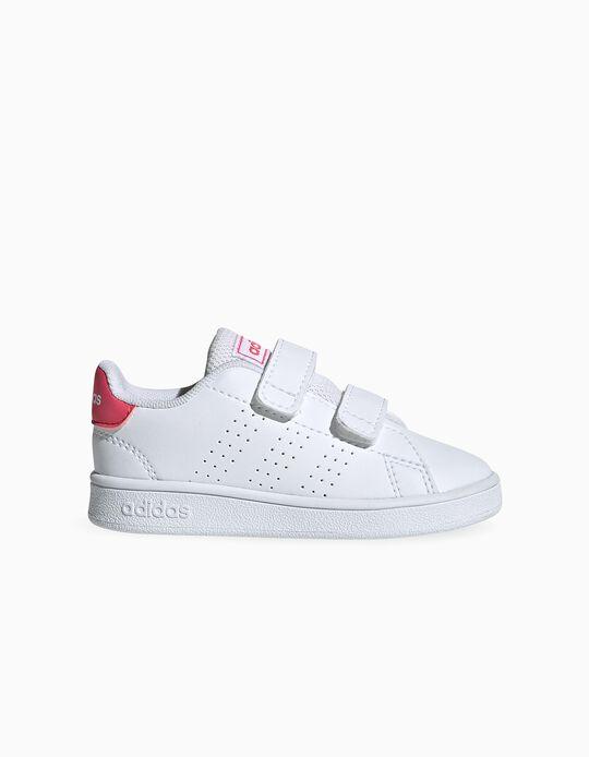 Sapatilhas para Bebé 'Adidas Advantage', Branco/Rosa
