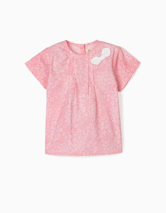 Blouse for Baby Girls, 'Flowers', Pink