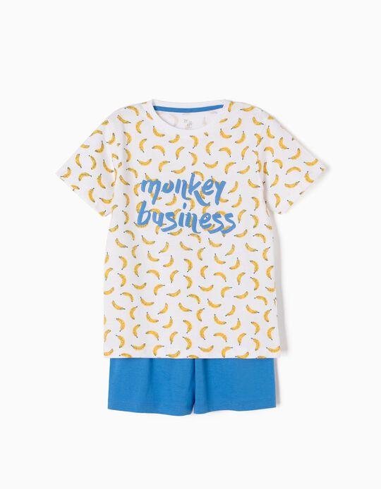 Pijama Manga Curta Monkey Business