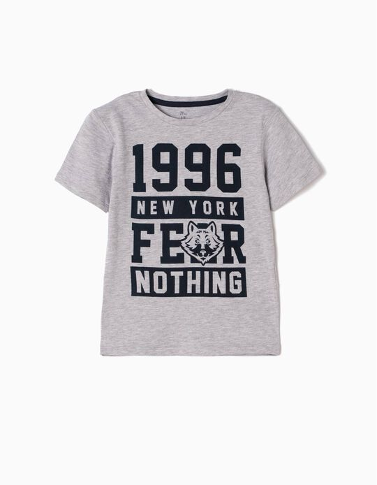 Camiseta Fear Nothing Gris
