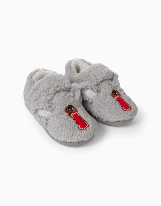 Fantasy Slippers for Boys, Grey