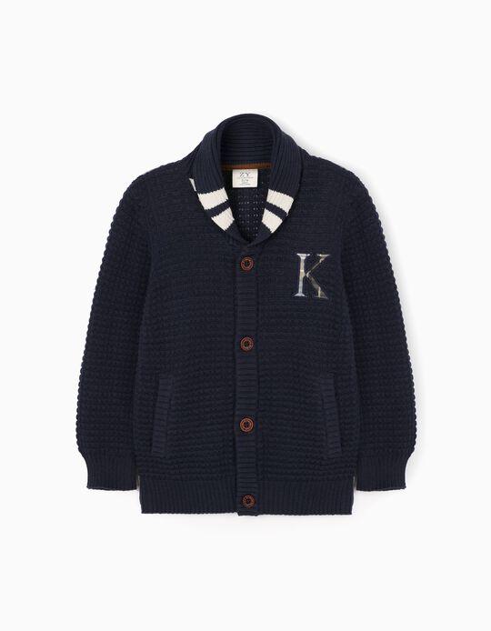 Casaco de Malha para Menino 'Kansas', Azul Escuro