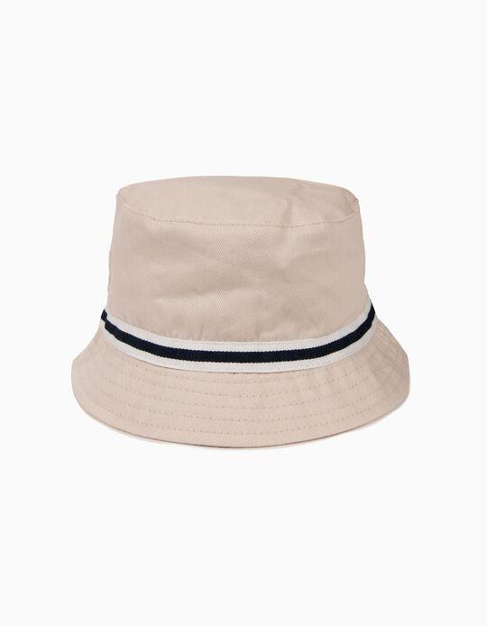 Sombrero para Niño con Banda a Contraste, Beige