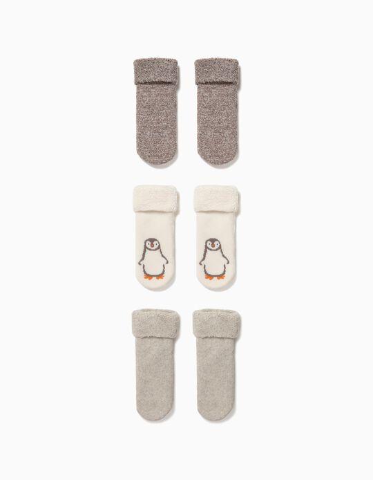 Pack 3 Calcetines de Algodón Orgánico Pingüino