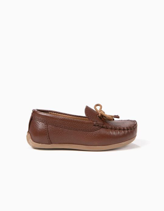 Suede Loafers for Baby Boys, Brown