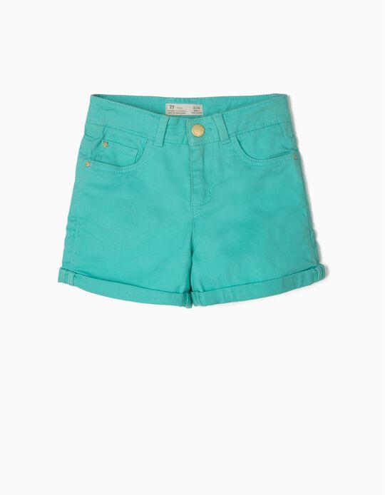 Short para Niña, Azul Verdoso