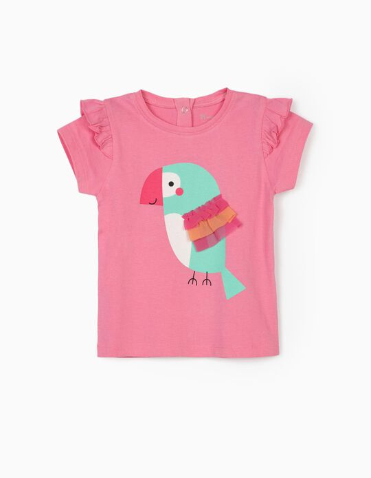 T-shirt for Baby Girls, 'Bird', Pink