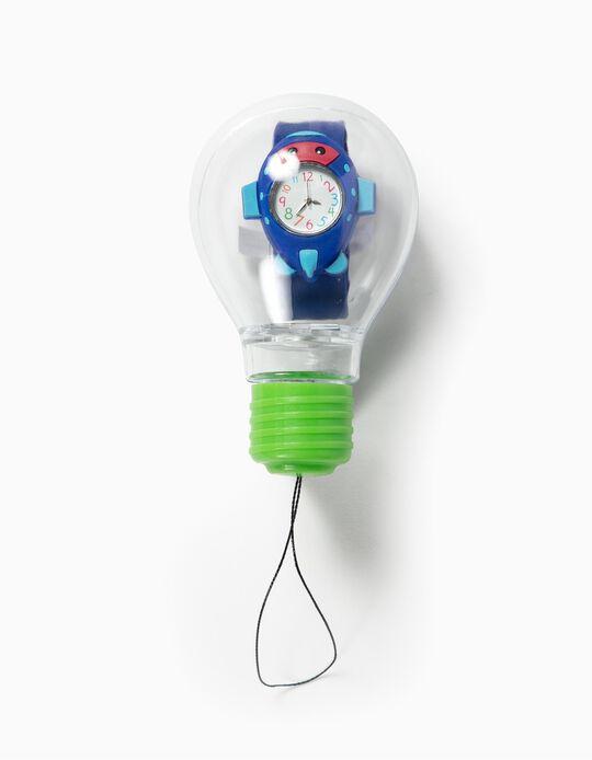 Reloj para Niño 'Avión', Azul Oscuro