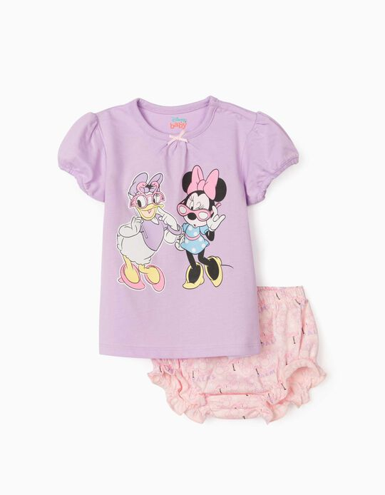 Pyjamas for Baby Girls, 'Minnie Mouse & Daisy', Lilac/Light Pink