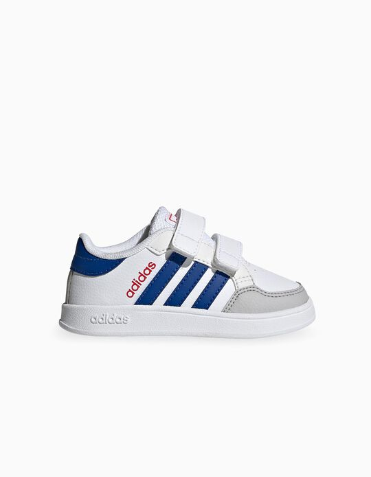 Zapatillas Bebé 'Adidas Breaknet', Blanco/Rojo/Azul