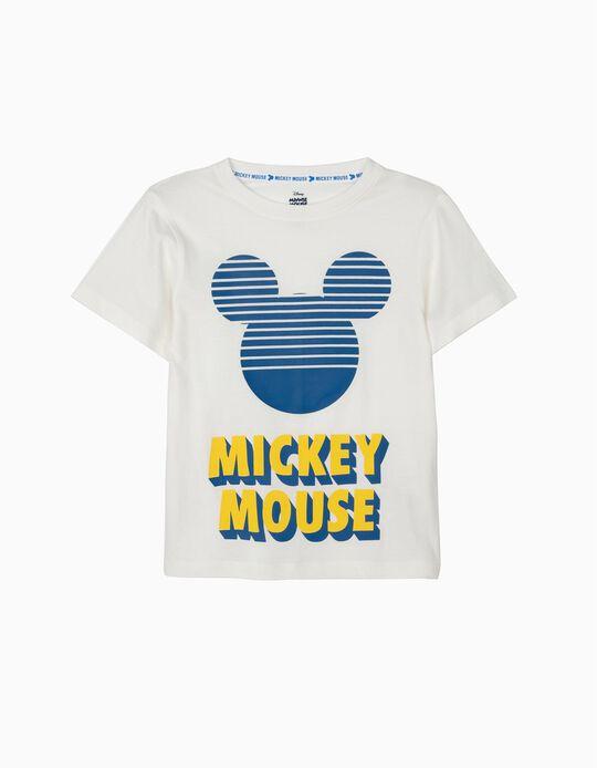 Camiseta para Niño 'Mickey Mouse', Blanca