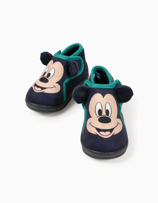 Slippers for Baby Boys, 'Mickey Mouse', Dark Blue