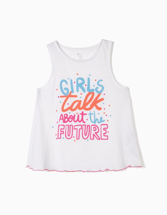Top for Girls 'Future', White